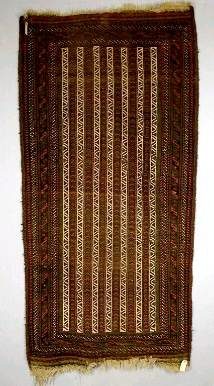 Striped Persian Baluch Rug late 19th century