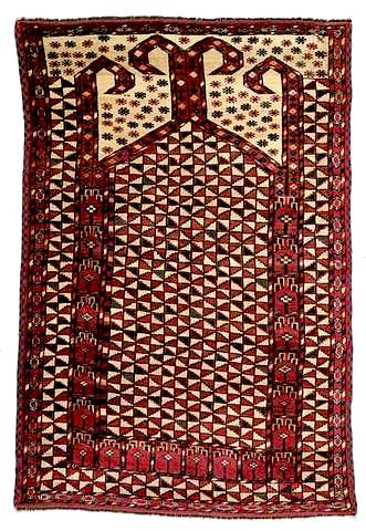 A rare Ersari prayer rug Late 19th C.