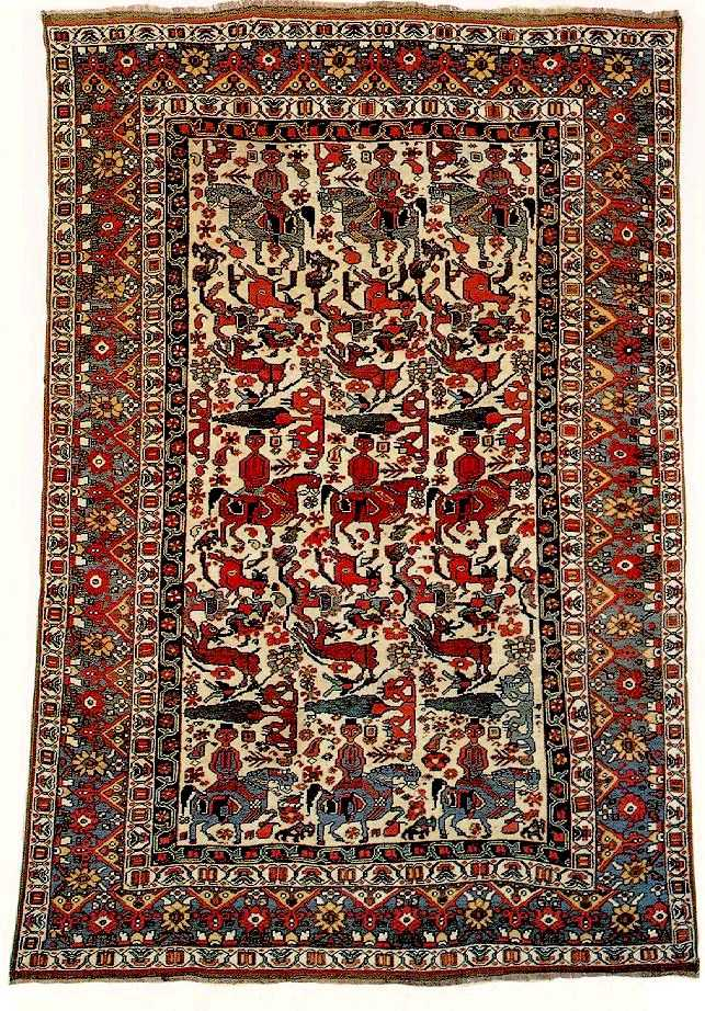 Antique Persian Khamseh Rugs Amp Carpets