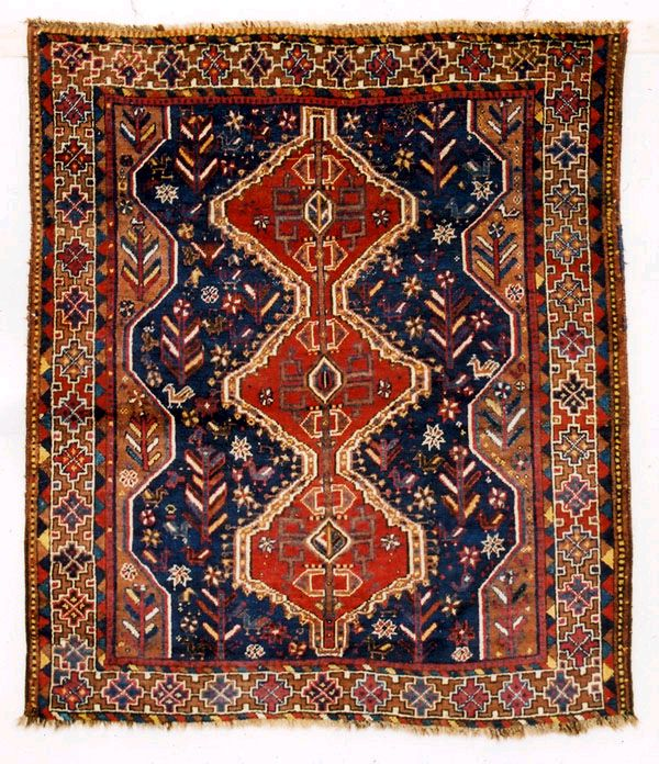 Arab Khamseh Confederation Rug late 19th c.
