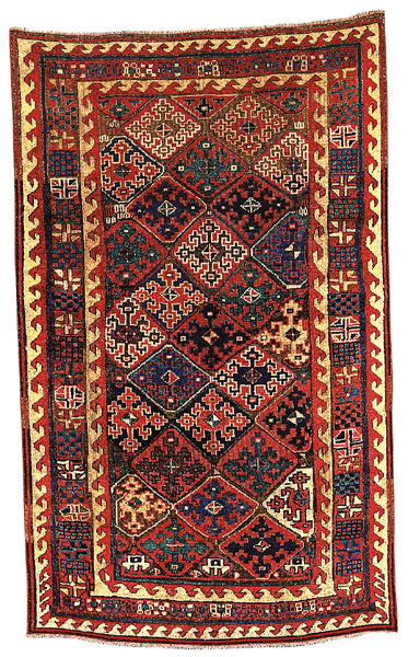 Northwest Persian Kurdish Village Rug 2nd. h. 19th