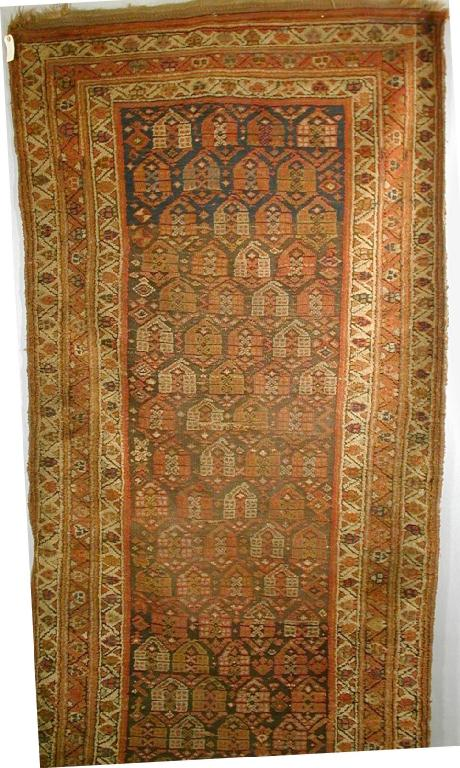 Kurdish Long Rug, Northwest Persia, late 19th-early 20th