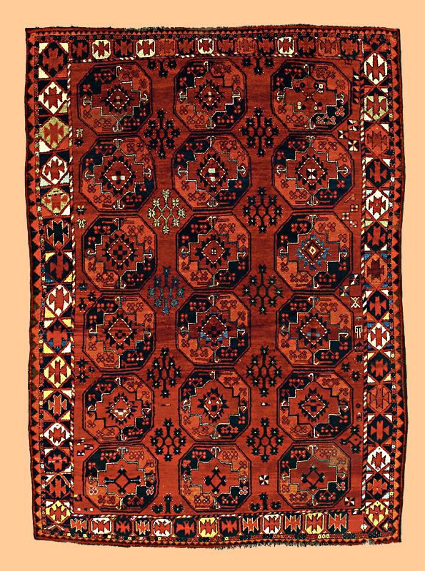 Early 19th c. Ersari Turkman Main Carpet