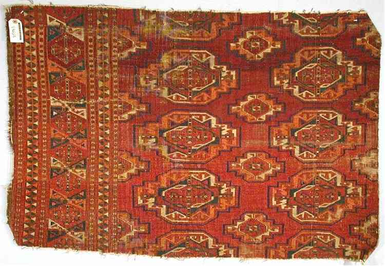Saryk Turkmen Main Carpet Fragment