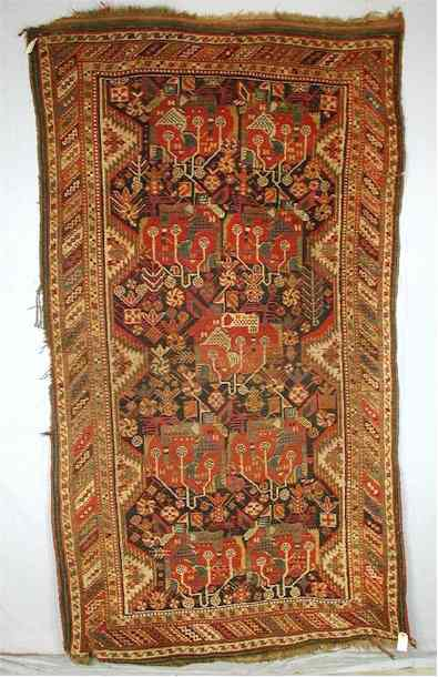 Baharlu/Khamseh Confederation Rug 2nd Half 19th C.