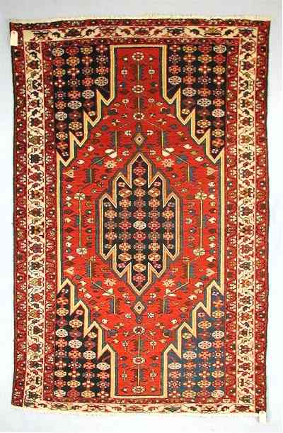 Early 20th C. Mazlaghan Village Rug