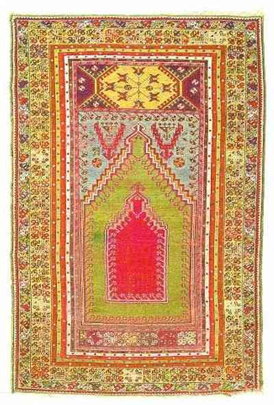 Kirsehir Prayer Rug, Central Anatolia, 19th C.