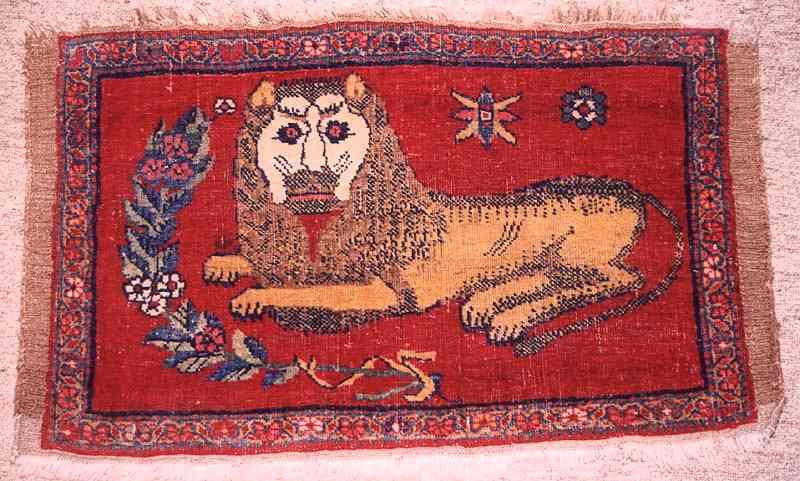 Bijar Lion Mat, Abstract Art/Ancestral Visions