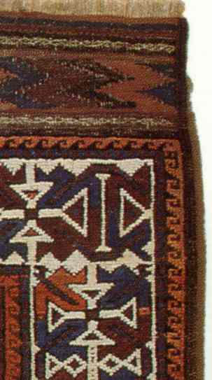 Late 19th C. Baluch Rug