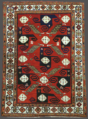 Antique Pin Wheel Kazak Rugs
