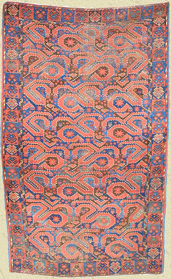 Antique Ersari Dragon & Phoenix rug