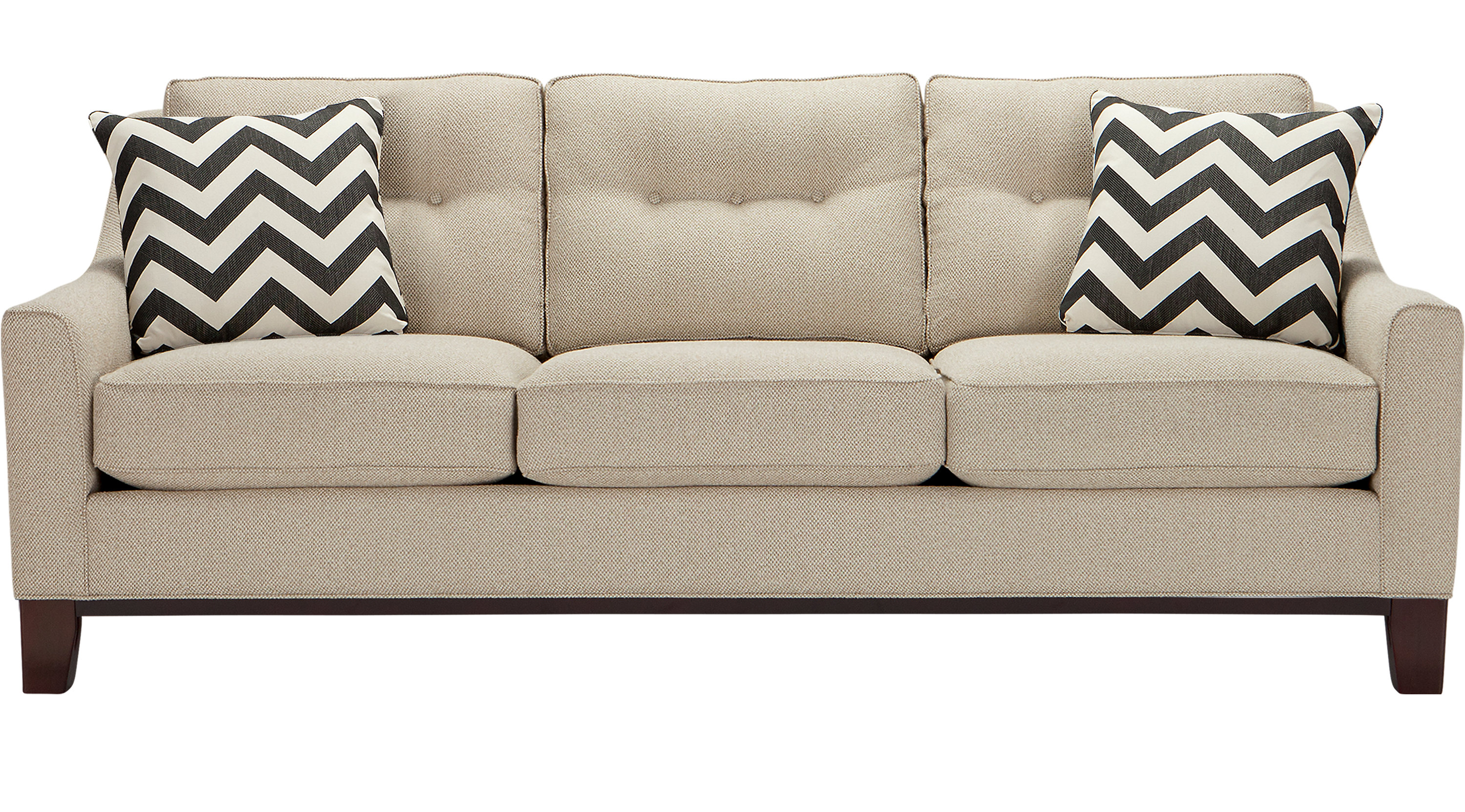 Hadly Beige Sleeper Contemporary Synthetic ~ Cindy Crawford Home Sleeper Sofa