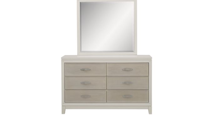 Amelia White Dresser & Mirror Set
