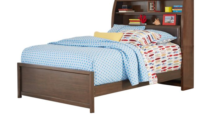 Santa Cruz Cherry 3 Pc Full Bookcase Bed