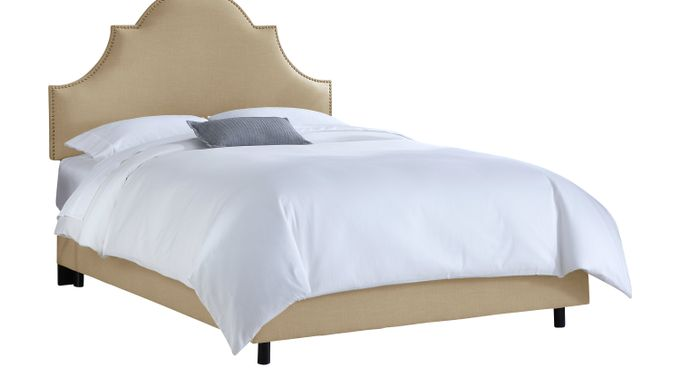 Vallie Sand (beige) Stone (beige)  Full Bed - Upholstered - Contemporary, Polyester