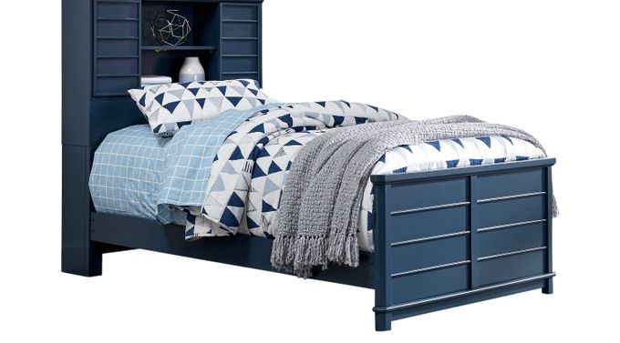 Kids Bay Street Blue 3 Pc Twin Bookcase Bed