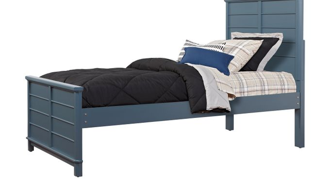 Bay Street Blue 3 Pc Twin Panel Bed