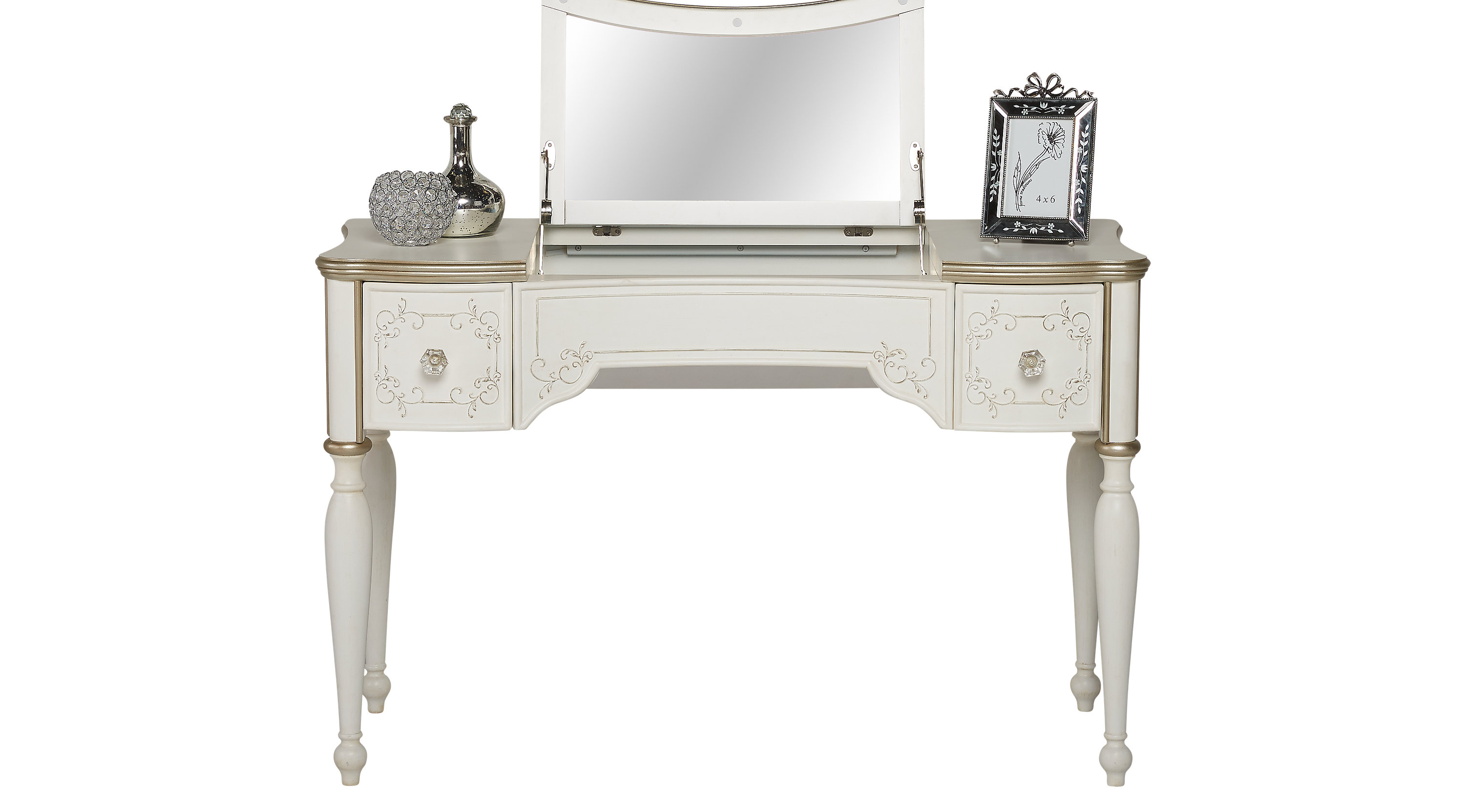 mirror item stool number vanity combo glam coaster products leighton desk and dunk