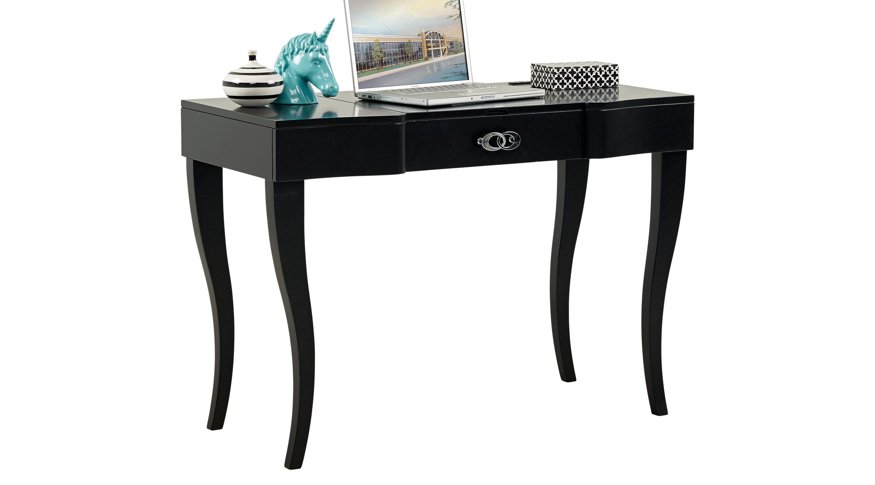 Kids Rylee Black Vanity Desk